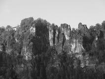 Пейзаж Швейцарии Saxon Стоковое фото RF