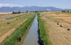 Пейзаж Bale сена Стоковые Изображения RF