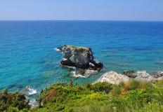 Пейзаж Beautiuful Эгейского моря Стоковая Фотография RF