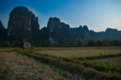 Пейзаж karst Vang Vieng Стоковое фото RF
