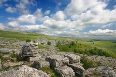 Пейзаж Malham в участках земли Йоркшира Стоковое Изображение