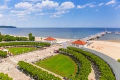 Пейзаж molo Sopot на Балтийском море в Польше стоковая фотография