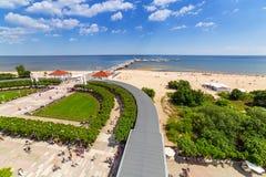 Пейзаж molo Sopot на Балтийском море в Польше стоковое фото