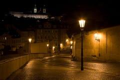 пейзаж prague ночи Стоковые Фотографии RF