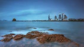 Пейзаж Qingdao в Китае Стоковое фото RF