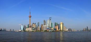 пейзаж shanghai bund Стоковое фото RF