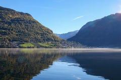 Пейзаж Sognefjord, Норвегия, Скандинавия стоковое фото