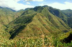 пейзаж yunnan провинции горы фарфора стоковое фото rf