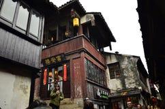 Пейзаж Zhouzhuang на Сучжоу, Китае в зиме Стоковые Изображения