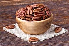 пекан иллюстрации предпосылки nuts безшовный стоковая фотография rf