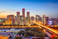 Пекин, горизонт Китая CBD Стоковые Изображения