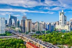 Пекин, городской пейзаж Китая CBD Стоковые Изображения RF