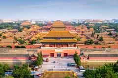 Пекин, запретный город Китая стоковое изображение rf