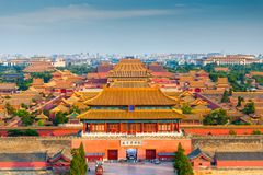 Пекин, запретный город Китая стоковое фото rf