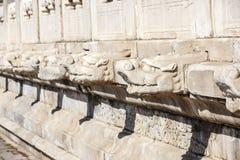 Пекин запретный город, каменный высекая усовик и ¼ Œin Китай headï дракона Стоковая Фотография