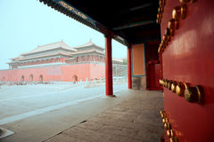 Пекин, имперский дворец, архитектурноакустическое искусство Стоковые Фото