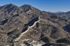 Пекин, Китай 18-ое ноября 2017: Великая Китайская Стена Китая, Badaling стоковая фотография