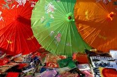 Пекин, Китай: Цветастые зонтики Стоковая Фотография
