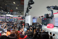 Пекин, 20-ое апреля 2014, мотор KIA в 13th выставке автомобиля Пекина международной стоковое фото