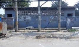 Пекин, трущобы, подрывание, деревня и трущобы, загрязнение, загрязнение воды, туалет, старые дома, бунгала, favela, сточная канав Стоковое Изображение RF