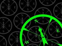 пеленгаторный компас северный Стоковая Фотография RF