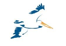 пеликан стилизованный Стоковые Изображения RF
