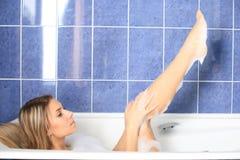 пена ванны стоковая фотография rf