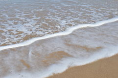 Пена в пляже Стоковое Фото