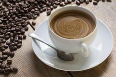 пена кофейной чашки Стоковое фото RF