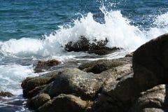 Пена на волнах Стоковое фото RF