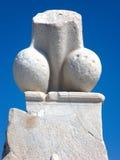 Пенис, статуя Phallus каменная в Delos, Греции Стоковые Изображения RF