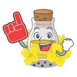 Пенится масло семени пальца канола на мультфильме иллюстрация штока