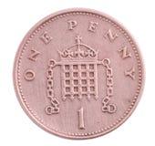 пенни монетки одного Стоковое Изображение RF