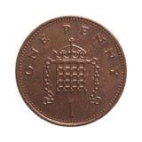пенни монетки одного Стоковая Фотография RF