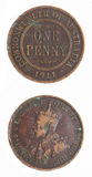 пенни монетки 1911 австралийца десятичное pre вряд Стоковое Изображение RF