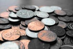 Пенни, никеля & монета в 10 центов закрывают вверх по высококачественному Стоковое Фото