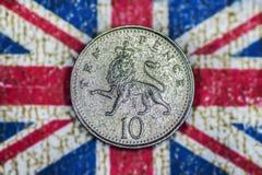 10 пенни Стоковое Изображение RF