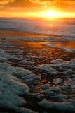 пенообразный заход солнца Стоковые Фото