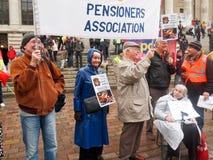 пенсионеры арахисов стоковые фото