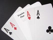 пенсия азартной игры Стоковые Изображения