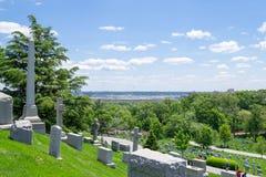 Пентагон от кладбища Арлингтона стоковое изображение