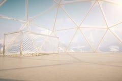 Пентхаус с снежным Mountain View Стоковое Изображение RF
