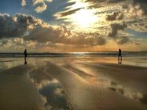 Первая дата в пляже Стоковая Фотография RF