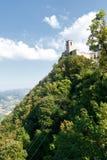 первая башня san marino стоковые фото