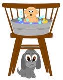 Первая ванна младенца Стоковые Фото