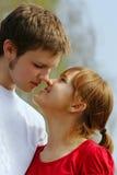 первая влюбленность Стоковая Фотография