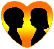 Первая влюбленность иллюстрация вектора