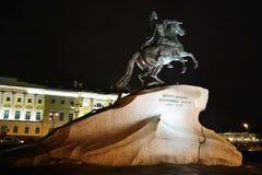 первая ноча peter памятника Стоковое Изображение