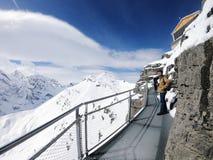 Первая прогулка скалы, Grindelwald, Швейцария стоковое изображение rf
