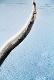 Первая солнечность на Реке Святого Лаврентия в утре зимы стоковые фотографии rf